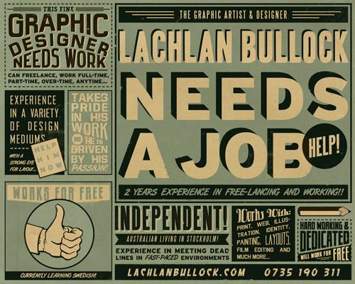 Lachlan Needs A Job